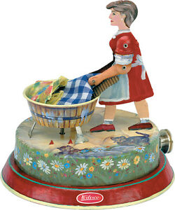 Wilesco M 83 Tin Toy Washer Woman for Live Steam Engine Shipped from USA