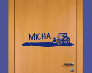 Details Zu Samunshi Turaufkleber Trecker Name Kinderzimmer Traktor 25 Farben 40 X 10cm Tur