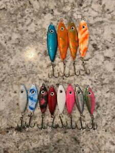 Vertical Jigging Spoon Lot. Ice fishing Northern, salmon, musky, walleye, perch