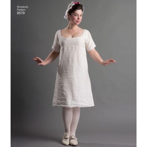Simplicity Sewing Pattern 8579 Gratis Reino Unido P/&p fp simplicidad - 8579-M