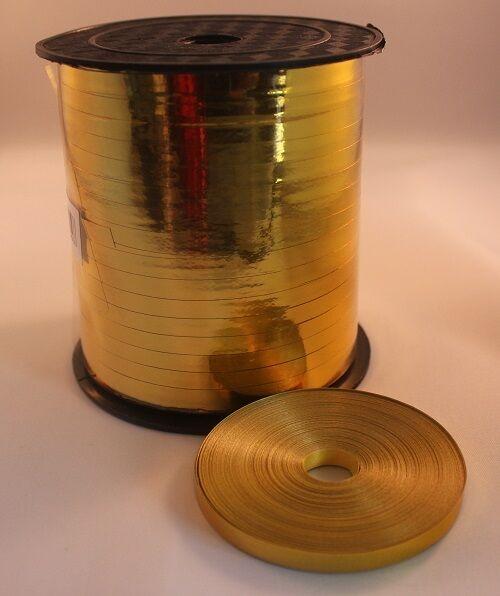 Metallic Gold 5mm Balloon Curling Ribbon - 5cm sample   25 50 100   250 metre