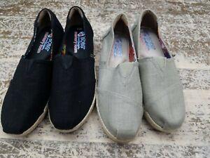 Skechers-Bobs-Women-039-s-High-Jinx-Womens-Taupe-Black-Wedge-Shoes