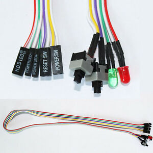 new pc atx power supply reset switch cable with led lights ebay Reset MacBook Pro Power Reset Circuit