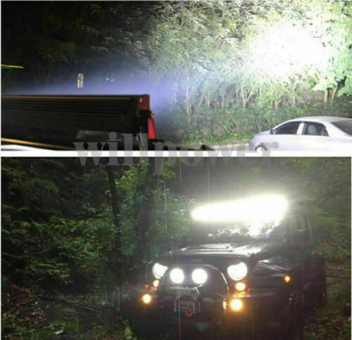 120//180//240//300W Curved DEL Work Light Bar Offroad SUV voiture Remote Strobe Harnais