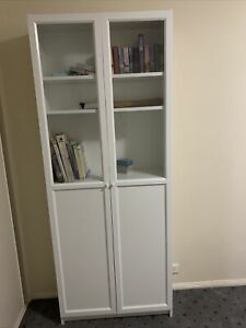 IKEA BILLY Bookcase, 80x28x202 cm - with Doors. Pickup Only