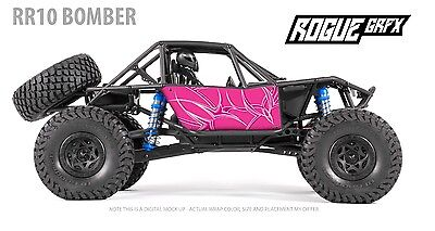 Axial RR10 Bomber Body Graphic Wrap Skin Tribal Pink