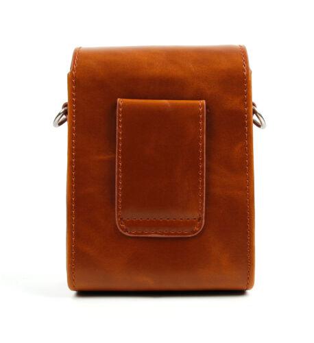 Imitación de cuero funda de estilo vintage marrón para Canon Powershot D10 d20 G12 S100 S95