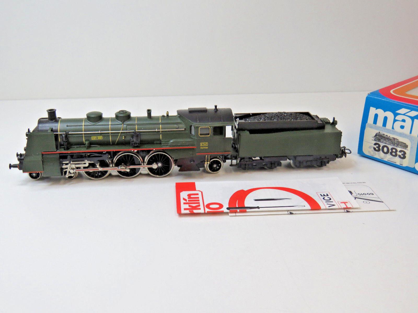 Dampflok Serie 231-981 der SNCF,ETAT,Frankreich,Ep. III, III, III, MÄRKLIN HO,3083,OVP,WS  | Förderung  a3ab42