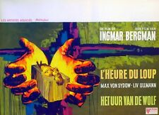 HOUR OF THE WOLF 1968 Ingmar Bergman, Max Von Sydow BELGIAN POSTER