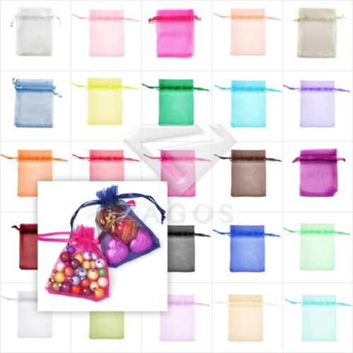 50//100//200//500pcs Large Organza Bags Wedding Favor Jewelry Gift Pouch 20x30cm