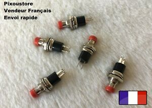 Mini-Bouton-Poussoir-Interrupteur-rouge-NO-Pour-Voiture-maquette-Lot-choix-7-14