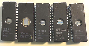 EPROM-Typ-27512-512-KB-EPROM-Ceramic-diverse-Hersteller-Slots