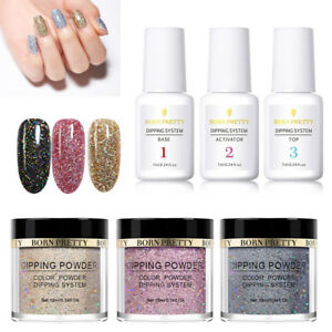 6Bottles-BORN-PRETTY-Glitter-Nail-Dipping-Powder-With-Dip-Liquid-System-No-Lamp