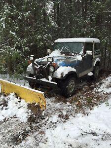 1979 JEEP CJ7 with working snow plow