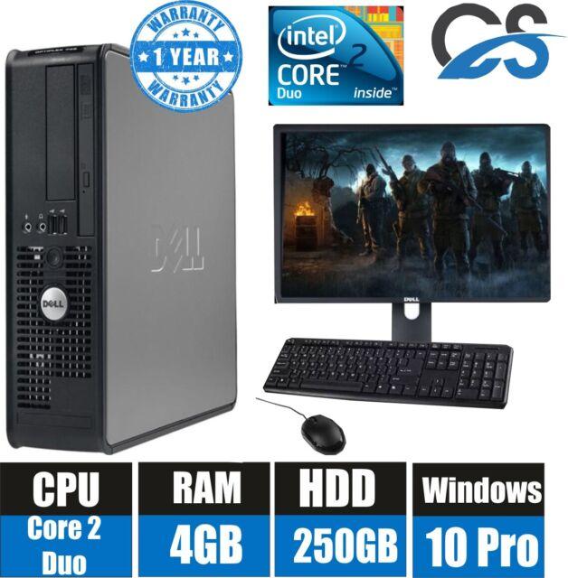 Windows 7 Full Dell Computer Desktop Tower Set Pc 4gb Ram 250gb Hdd Wifi Deal For Sale Online Ebay