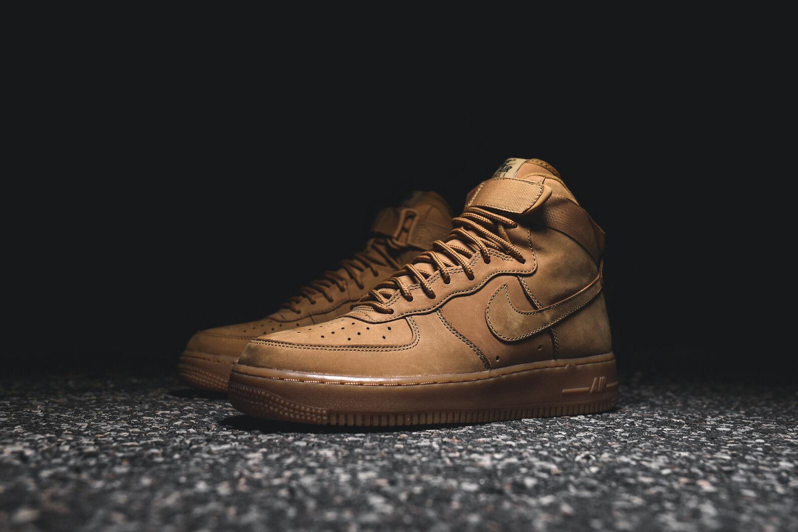 Nike air force 1 high'07 lv8 flax wheat caramel suede 806403