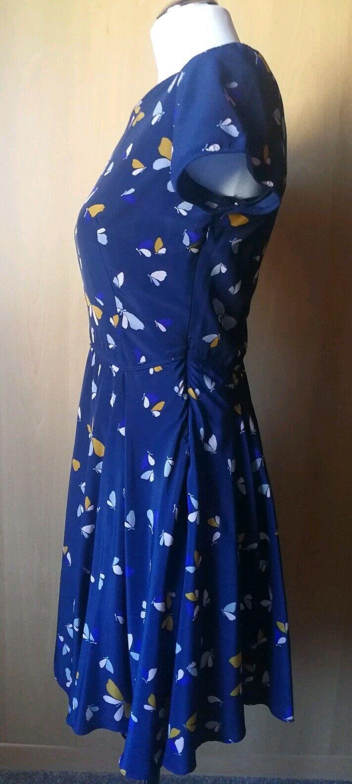 Zara  Kleid dunkelblau mit Schmetterlingenmuster  Gr.S