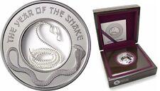 Fiji 2013 Snake FILIGREE Lunar Year Silver Proof $1 -Box