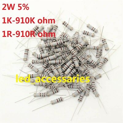 10pcs 3W Watt Metal Film Resistor ±1/% 1 Ω to 910 Ω Ohm R(Free shipping )