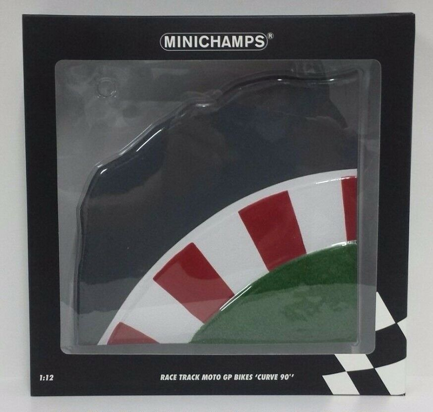 MINICHAMPS VALENTINO ROSSI 1 12 BASE PISTA RAZA TRACK MOTOGP BIKES CURVAS 90°
