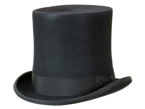 Guerra Zylinder klassischer Top Hat Haarfilz Filzhut 18cm extra hoch Filz
