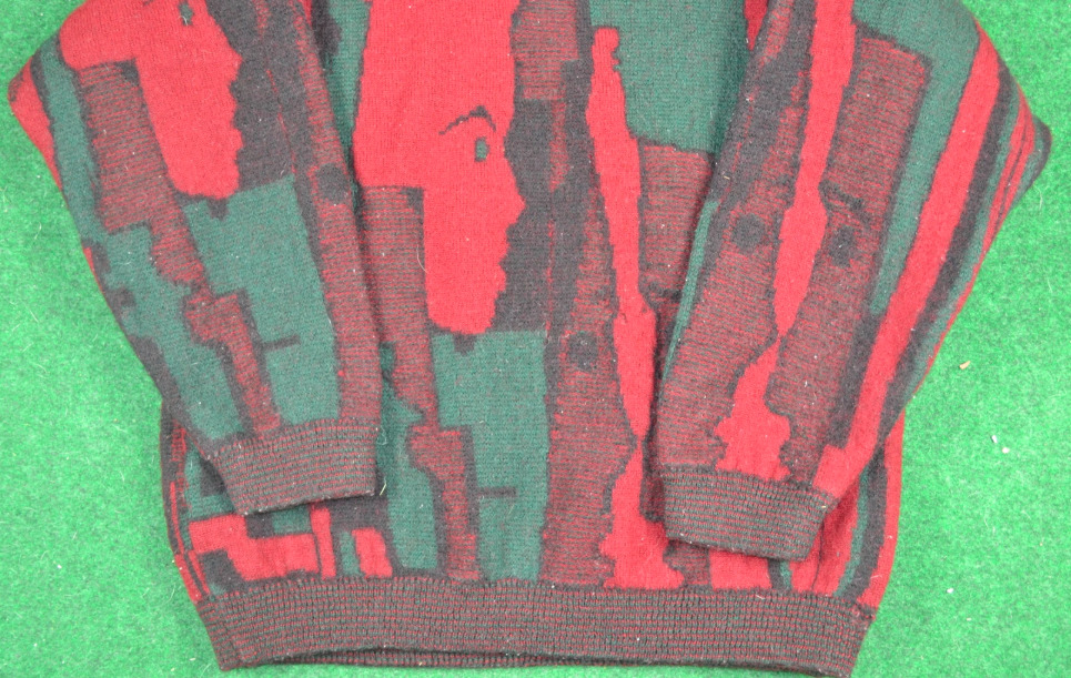 Rare 80s Coogi Faces Wool Sweater Pullover Gucci … - image 4