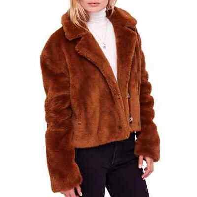 NWT Free People Mena Faux Fur Jacket Retail $298