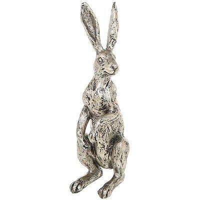 Standing Hare Statue / Figurine / Ornament in Champagne Bronze * Gift