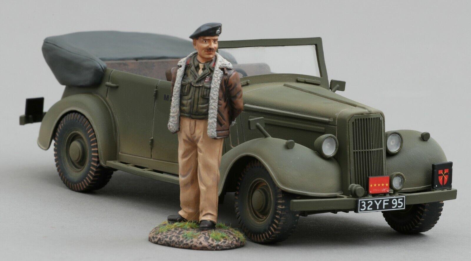 THOMAS GUNN WW2 AMERICAN GB011D ALLIED STAFF CAR OLIVE DRAB VERSION WITH MONTY