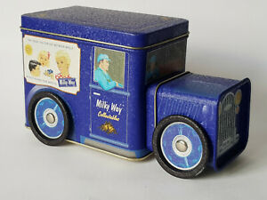 MILKY-WAY-NESTLE-Choclate-Vintage-Tin-Van-Storage-Ornament-EXCELLENT-CONDITION