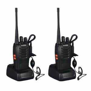 2PCS Baofeng BF-888S Two Way Radio Walkie Talkie Wireless Handheld UHF400-470MHz