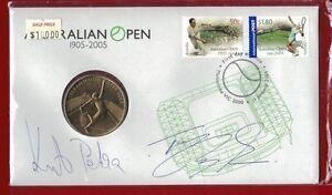 Signed by Petra Kvitova & Tomas Berdych 2005 PNC $5 'Australian Tennis Open'