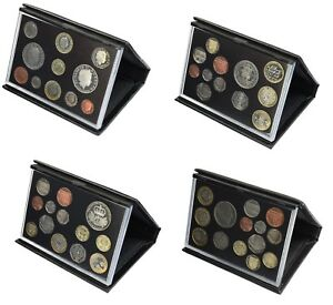 Black-Leather-Deluxe-Royal-Mint-Proof-Sets-2008-to-2011-Choice-of-Set-Birthday