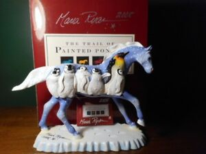 Trail-Painted-Ponies-PENGUIN-EXPRESS-Westland-SIGNED-Hang-Tag-Pony-and-Box-1E