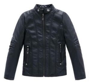 Children-Coats-And-Jackets-Boys-clothing-Leather-Casual-Turn-down-Collar-Jacket