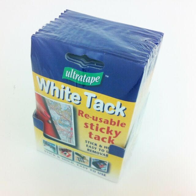 White Re Usable Sticky Tack Blue Blu Tac Adhesive