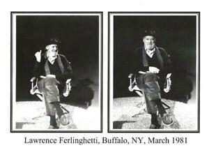 LAWRENCE-FERLINGHETTI-SUNY-BUFFALO-MARCH-1981-BEAT-WRITERS-PHOTO-POSTCARD-24