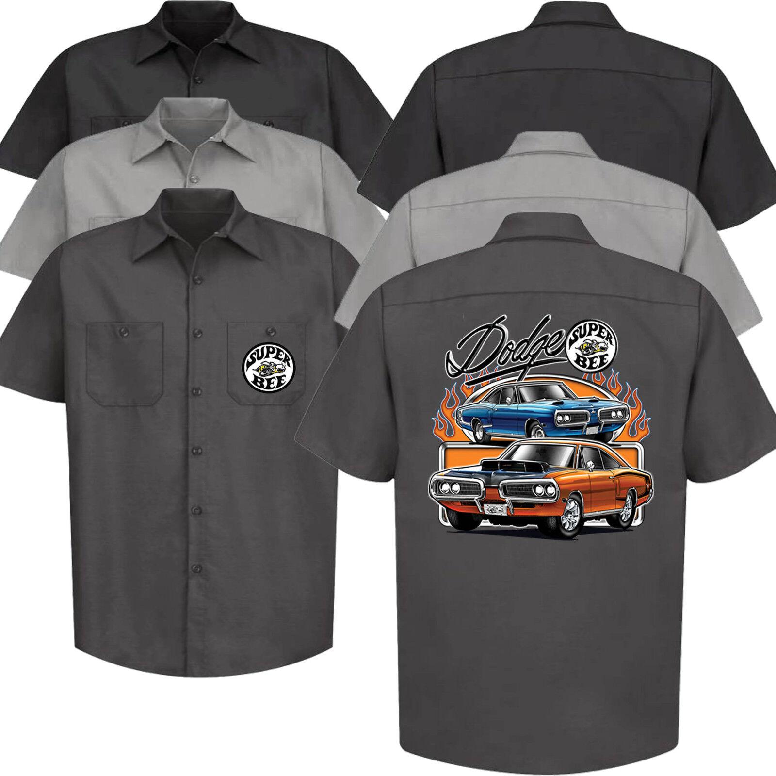 Dodge Super Bee Meccanico Camicia di Lavoro Auto Chrysler Mopar Auto Vestiti