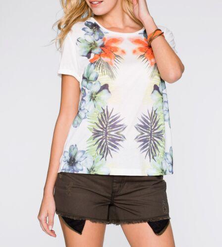 Gr Exotisches Shirt mit Druck in Wollweiß 32 // 34 Q4042-955850