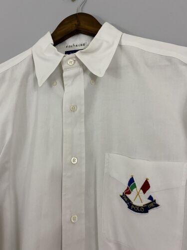Vintage Polo Ralph Lauren Cross Flags Button Up S… - image 1