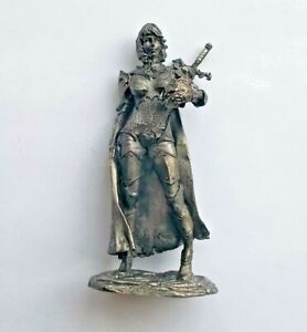 1-32-Fantasy-warrior-girl-w-sword-Tin-Metal-Soldier-Figure-54mm-Female-handmade