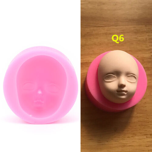 1pc Silicone Baby Face Mold Head for Fondant Chocolate Soap Handmade 0HC