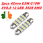 2pcs-42mm-C5W-C10W-SV8-5-12-LED-3528-SMD-Festoon-CANBUS-NO-Error-Car-Lights-12V thumbnail 1