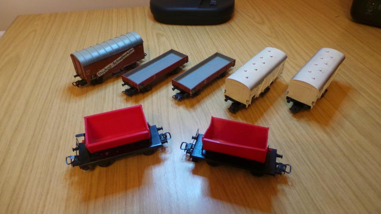 HB87: Marklin HO Gauge Freight Wagons x 7