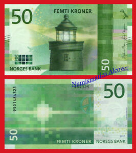 NORUEGA-NORWAY-50-Kroner-2017-2018-NEW-DESIGN-Pick-53-SC-UNC