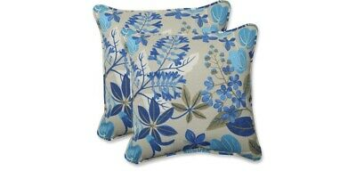 Outdoor Pillows Set Of 2.Pillow Perfect Indoor Outdoor 18 5 Fancy A Floral Lagoon Throw Pillows Set Of 2 Ebay