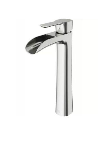 VIGO Niko Single Hole Single-Handle Vessel Bathroom Faucet in Brushed Nickel