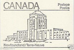 Canada 1982 - 50¢ Maple Leaf Booklets #BK82 (labels bottom row) - Newfoundland