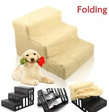 Pet Stairs Cat Small Puppy Dog Steps with Washable Portable Cover 3 Steps NEW UK