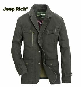 jeep rich men cotton blazer solid color business fall. Black Bedroom Furniture Sets. Home Design Ideas